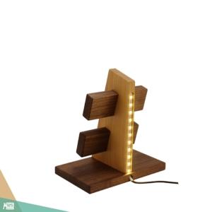 Óratartó 4 db-os LED fénnyel (diófa és cseresznyefa)