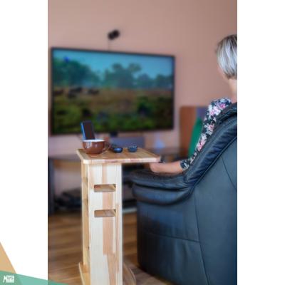 Mobil asztalka (bükkfa, fekete wenge szín)