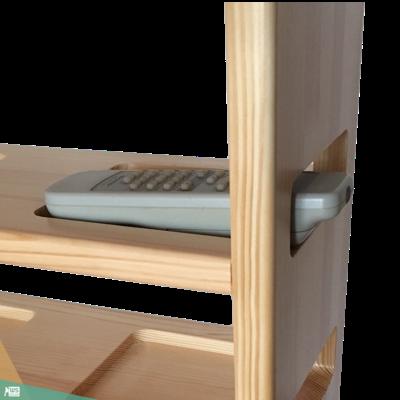 Mobil asztalka (borovi fenyőfa, natúr lakkozás)
