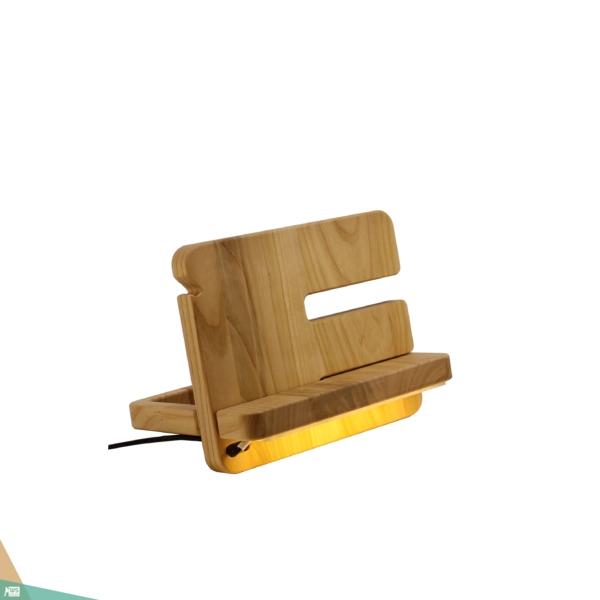 Asztali rendező LED fénnyel, MINI (cseresznyefa)
