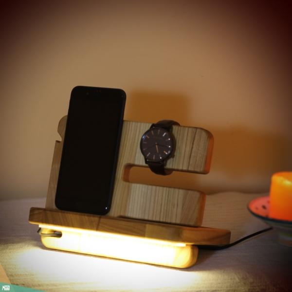 Asztali rendező LED fénnyel, MINI (tölgyfa)
