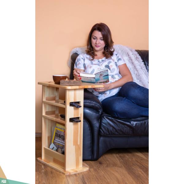 TV asztalka (bükkfa, barna szín)