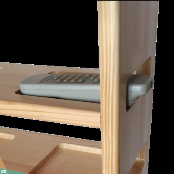 TV asztalka (borovi fenyőfa, natúr lakkozás)