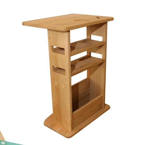 TV asztalka (tölgyfa, natúr)