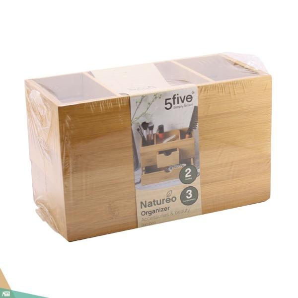 Szétnyitható sminkes doboz (bambuszfa)