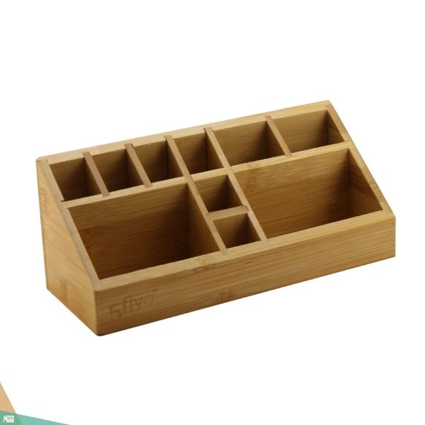 Vízszintes sminktartó, smink szervező (bambuszfa)